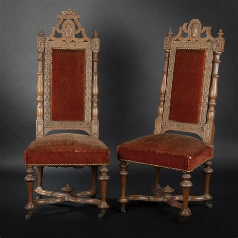 Chaise Renaissance by Pair Of Neo Renaissance Chairs Expertissim