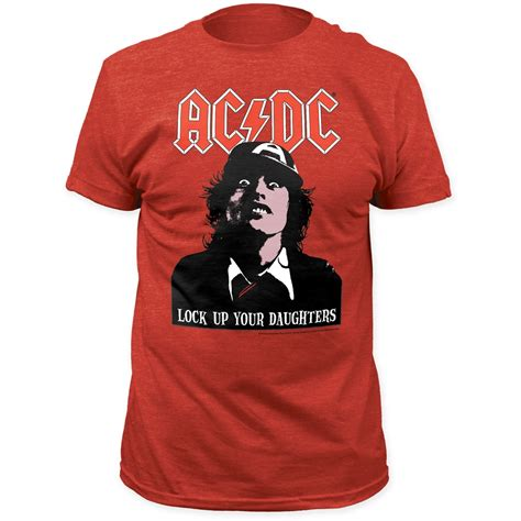 Ac Dc 48 T Shirt Size S ac dc lock up your daughters s fitted tri blend t shirt size medium ebay