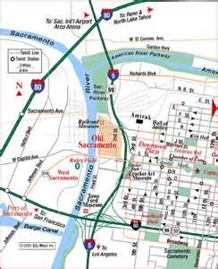 road map of sacramento west sacramento california