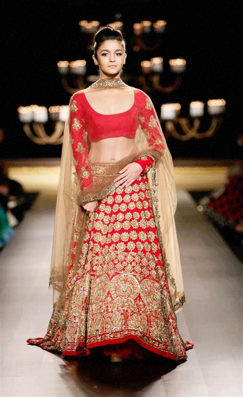 Indian Style Kitchen Designs by Alia Bhatt Stuns In Red Lehenga At India Couture Week