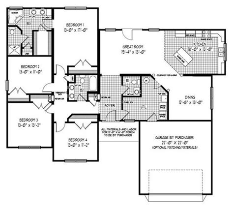 fairmont homes floor plans fairmont mk 2197 square foot ranch floor plan