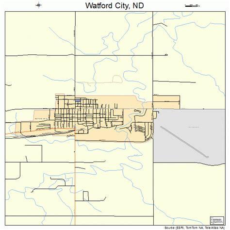 map of waterford city watford city dakota map 3883860
