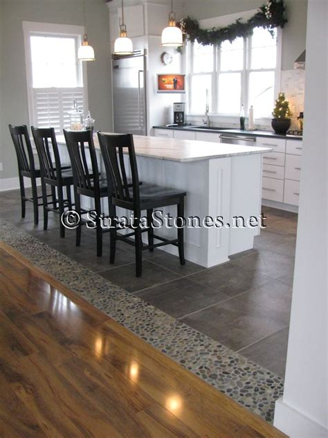 tiled kitchen floors transition flooring on bedroom design gold slate kitchen and hardwood tile