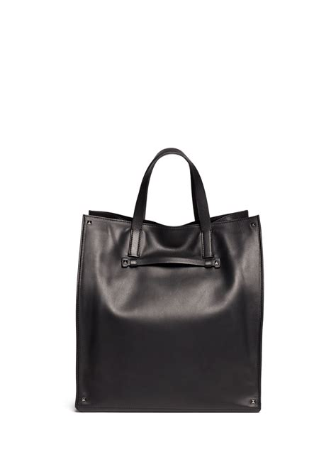 10 Valentino Bags by Lyst Valentino Rockstud Leather Tote Bag In Black For