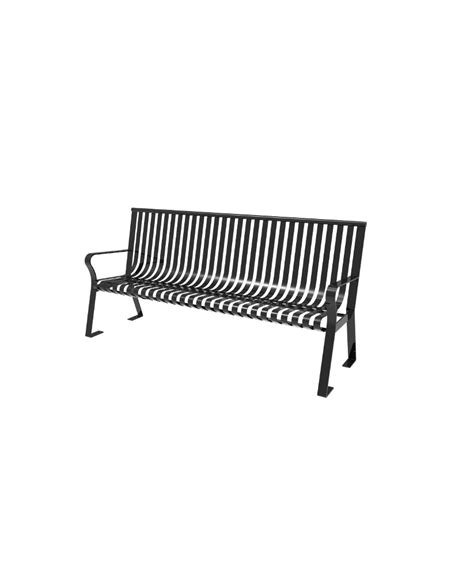 metal bench with back downtown strap metal bench with back parktastic