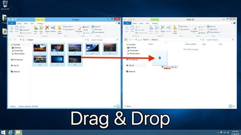 how to to drop use drag drop shortcuts to copy or move files in windows