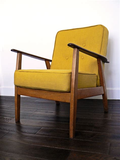 Wooden Frame Armchair by Armchair Philshakespeare Upholstery Vintage