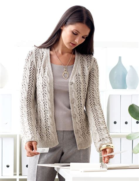 pattern cardigan free patons lace and cable cardigan knit pattern yarnspirations