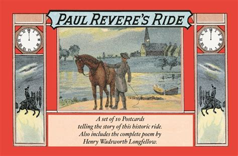 a picture book of paul revere wallbuilders llc paul revere s ride postcard book nwb01