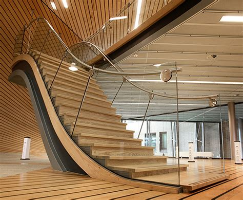 wood staircase 13 modern wooden staircase designs with cute handrails