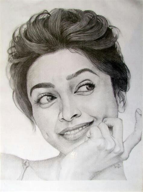 deepika padukone drawing deepika s sketch by fan deepika padukone pinterest