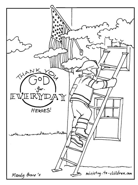 thank you firefighters coloring page firefighter coloring page thank god for everyday heroes