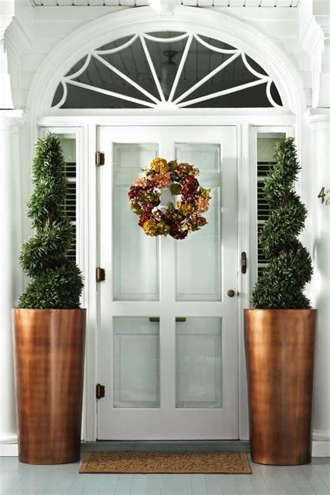 Front Door Planters 20 impressive ways to frame your front door with planters shelterness
