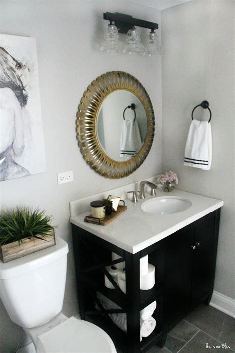 Black And White Bathroom Decor by How To Create A Neutral Glam Bathroom