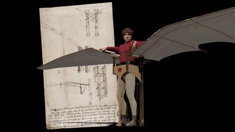 macchina volante di leonardo da vinci foto la macchina volante di leonardo da vinci