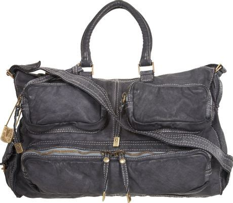 Sissi Rossis Shoulder Bag by Sissi Medium Cargo Pocket Bag In Gray Charcoal Lyst