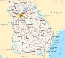 Ga State Map by Georgia Map Map Of Georgia