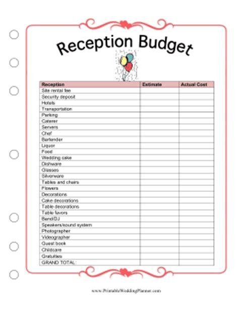 Galerry printable wedding planning worksheets