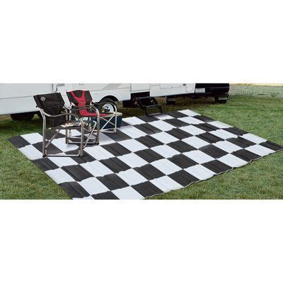 Outdoor Rugs For Cing Reversible Patio Rv Mat 9ft X 18ft Checkered Flag Model 47948 House