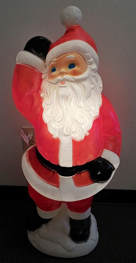 hard plastic blowmold 40 quot christmas santa claus outdoor