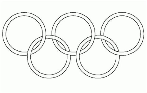 olympicrings free colouring pages