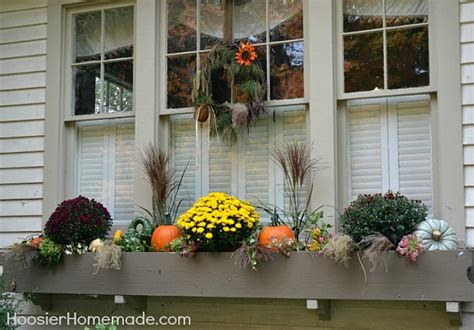 Decorations For Window Boxes by Fall Outdoor Decorating Window Boxes Hoosier