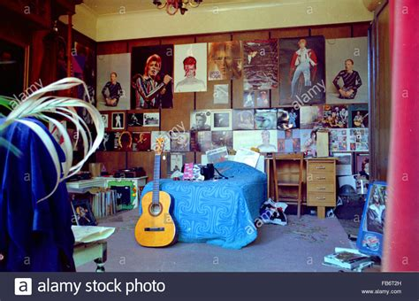 bedroom posters david bowie fan s bedroom covered with posters in the