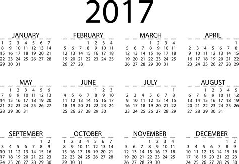 2017 Calendar Png Transparent Images Png All Transparent Calendar Template
