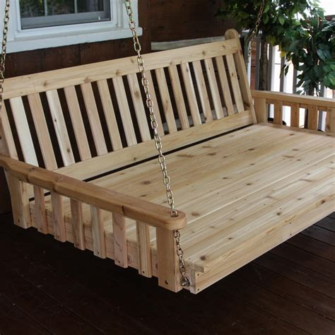 swing bed cushions a l furniture traditional english 4 foot cedar outdoor