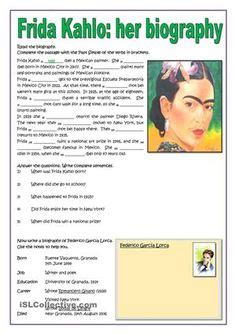 very brief biography michael jackson frida kahlo artist research and analysis worksheet frida