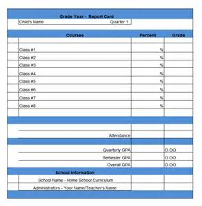 blank report card template report card template 29 free word excel pdf documents