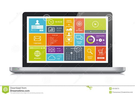 New Home Design Software For Mac metallic laptop with modern ui stock photos image 33129273