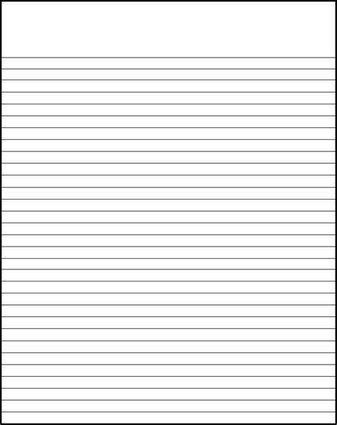 lined writing paper template paper template