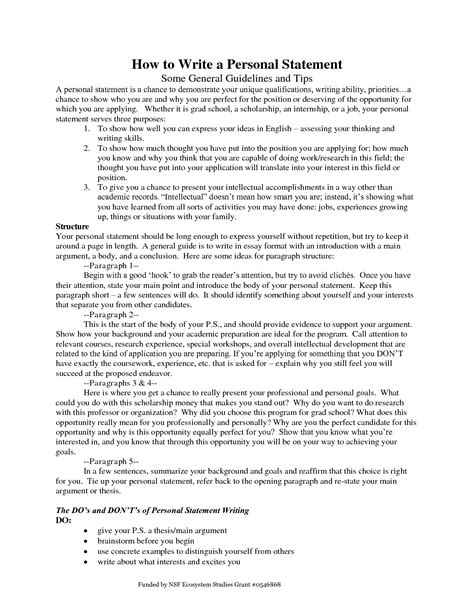 how to write personal statement best writing