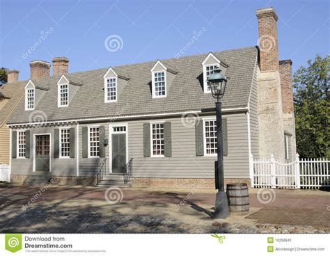 american colonial house american colonial style house stock image image 16256841