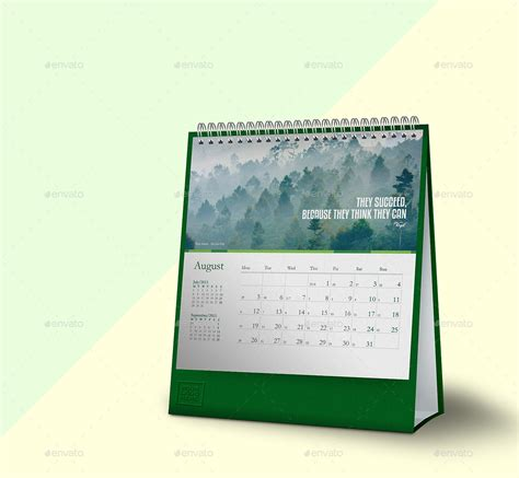 desk calendar mockups square dimension with 2 styles 4