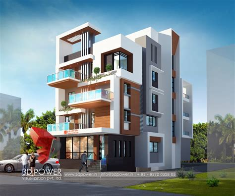 3d modern building design 18 design 1o1 3d animation 3d rendering 3d walkthrough 3d interior