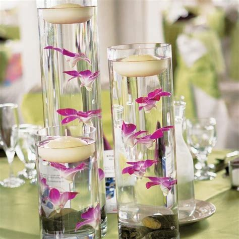 Submerged Purple Orchid Centerpieces Wedding Pinterest Purple Orchid Wedding Centerpieces