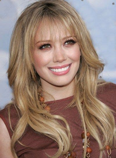 hillary farrs hairstyles with bangs hilary duff long bangs wavy hair pinterest long