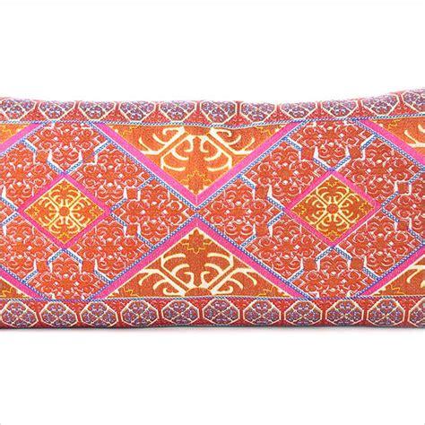 Scarf Umama Morocco Merah Orange orange embroidered boho moroccan bohemian bolster lumbar pillow cushion cover 14 x 32