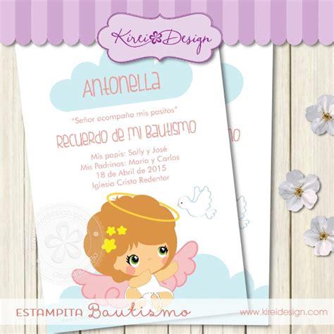 imagenes de poema para bautismo para nena tarjeta para bautismo alitas kireidesign