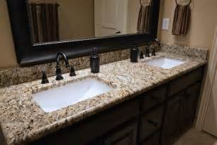 Granite Bathroom Countertops Santa Cecilia Granite Bathroom Vanity Bathroom