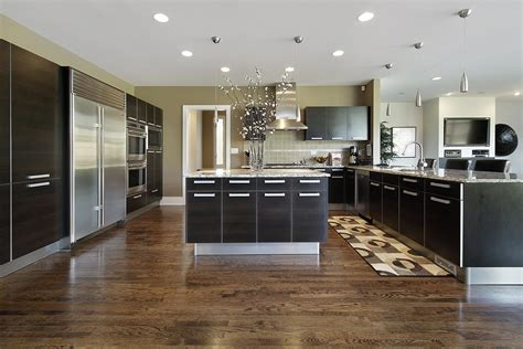 Modern Black Kitchen Cabinets by Gourmet Kitchens And Cabinets Hannegan Construction