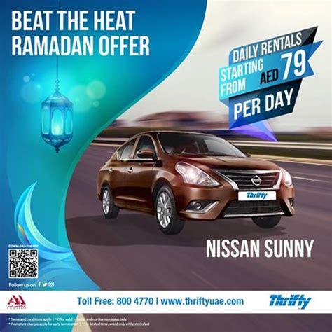 car service for a day thrifty car rental ramadan offer