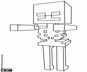minecraft coloring pages mutant skeleton minecraft coloring pages printable games
