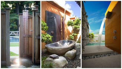 amazing ways  set  outdoor shower