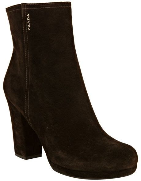 prada sport suede ankle boots in black lyst