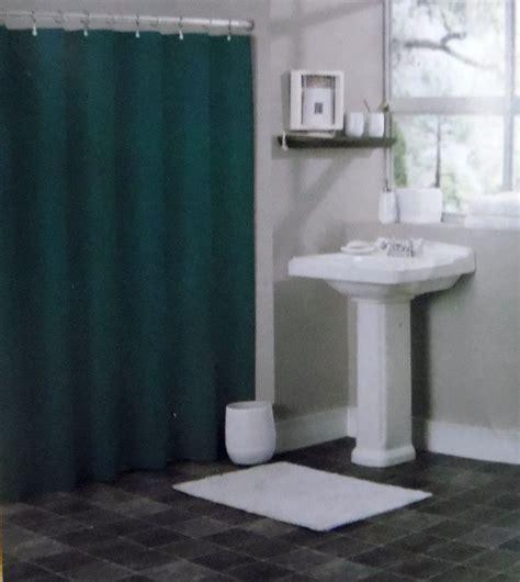 hunter green shower curtain solid hunter green bathroom vinyl plastic shower curtain
