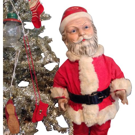 composition santa doll c 1930 composition santa fully jointed and original