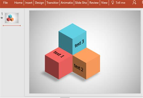 Free Editable Cube Diagram For Powerpoint Powerpoint Cube Template